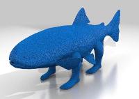 3D Drucker Vorlage von shwanthedoer. Fisch mit Beinen